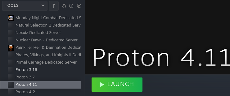 Installing the standalone version of Proton.